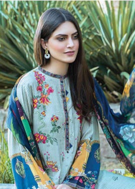 Takhleek By Hijab Omer Embroidered Linen Unstitched 3 Piece Suit TK19W 4A RAQS - Winter Collection