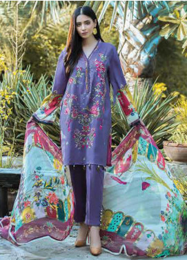 Takhleek By Hijab Omer Embroidered Linen Unstitched 3 Piece Suit TK19W 4B RAQS - Winter Collection