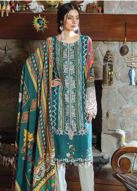 Takhleek By Hijab Omer Embroidered Linen Unstitched 3 Piece Suit TK19W 5A WARAQ - Winter Collection