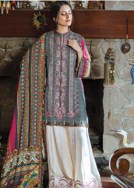 Takhleek By Hijab Omer Embroidered Linen Unstitched 3 Piece Suit TK19W 5B WARAQ - Winter Collection