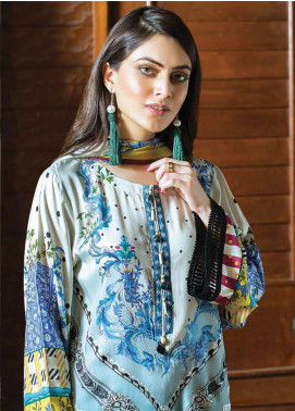 Takhleek By Hijab Omer Embroidered Linen Unstitched 3 Piece Suit TK19W 6A PARAHAN - Winter Collection