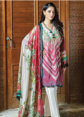 Takhleek By Hijab Omer Embroidered Linen Unstitched 3 Piece Suit TK19W 6B PARAHAN - Winter Collection