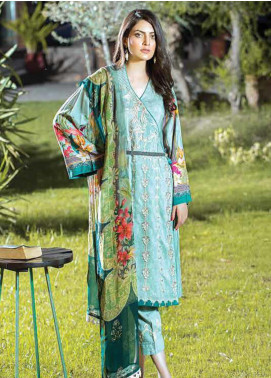 Takhleek By Hijab Omer Embroidered Linen Unstitched 3 Piece Suit TK19W 9A RAABTA - Winter Collection