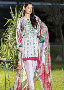 Takhleek By Hijab Omer Embroidered Linen Unstitched 3 Piece Suit TK19W 9B RAABTA - Winter Collection