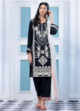 Takhleek By Hijab Omer Embroidered Khaddar Stitched 3 Piece Suit TK20CH 21WDE3P04