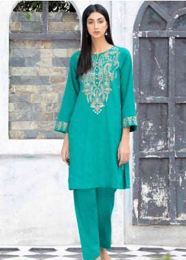 Takhleek By Hijab Omer Embroidered Khaddar Stitched 2 Piece Suit TK20CH 21WDE3P15
