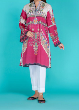 Takhleek By Hijab Omer Printed Lawn Stitched Kurtis TK20PF P-02 Pink