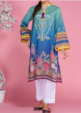 Takhleek By Hijab Omer Printed Lawn Stitched Kurtis TK20PF P-12 Green