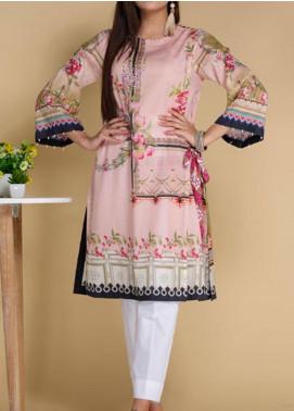 Takhleek By Hijab Omer Printed Lawn Stitched Kurtis TK20PF P-06 Pink