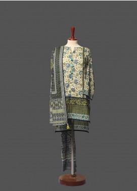 Tarzz Printed Lawn Unstitched 2 Piece Suit TZ19L 12B AQUA SKY - Mid Summer Collection