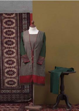 Tarzz Printed Cotton Unstitched 2 Piece Suit TZ19L 28 FOLIATE RUSTLE - Mid Summer Collection