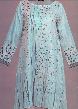 Tarzz Printed Cotton Unstitched Kurties TZ19L 57 FRESH TURQUOISE - Mid Summer Collection