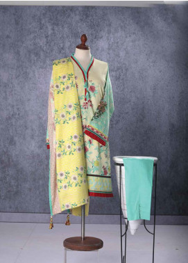 Tarzz Embroidered Lawn Unstitched 2 Piece Suit TZ19L 5B AURORA YELLOW - Mid Summer Collection