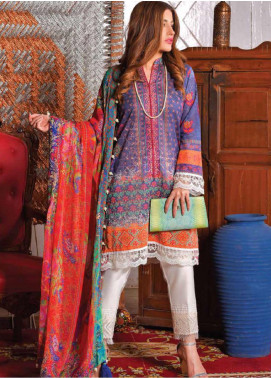 Tarzz Embroidered Lawn Unstitched 3 Piece Suits TZ20SL L20 45 - Summer Collection