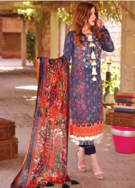 Tarzz Embroidered Lawn Unstitched 3 Piece Suits TZ20SL L20 46 - Summer Collection