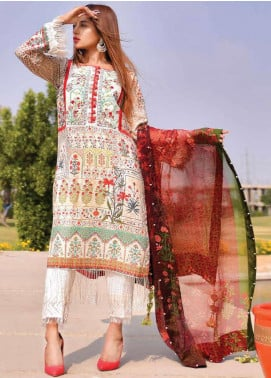 Tarzz Embroidered Lawn Unstitched 3 Piece Suits TZ20SL L20 47 - Summer Collection