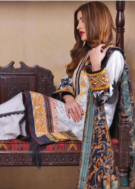 Tarzz Embroidered Lawn Unstitched 3 Piece Suits TZ20SL L20 49 - Summer Collection