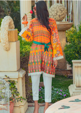 Tarzz Printed Lawn Unstitched Kurties TRZ20SL-2 L20-08 - Spring / Summer Collection