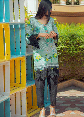 Tarzz Printed Lawn Unstitched Kurties TRZ20SL-2 L20-10 - Spring / Summer Collection