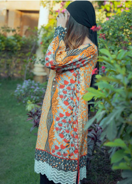 Tarzz Printed Lawn Unstitched Kurties TRZ20SL-2 L20-21 - Spring / Summer Collection