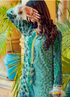 Tarzz Printed Lawn Unstitched Kurties TRZ20SL-2 L20-22 - Spring / Summer Collection