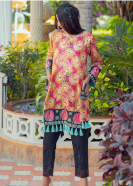 Tarzz Printed Lawn Unstitched Kurties TRZ20SL-2 L20-24 - Spring / Summer Collection