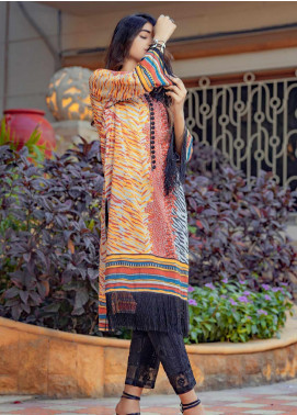 Tarzz Printed Lawn Unstitched Kurties TRZ20SL-2 L20-27 - Spring / Summer Collection