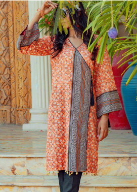 Tarzz Printed Lawn Unstitched Kurties TRZ20SL-2 L20-31 - Spring / Summer Collection