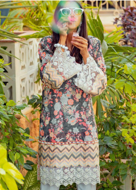 Tarzz Printed Lawn Unstitched Kurties TRZ20SL-2 L20-33 - Spring / Summer Collection