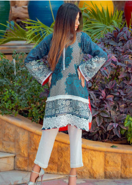 Tarzz Printed Lawn Unstitched Kurties TRZ20SL-2 Z20-14 - Spring / Summer Collection