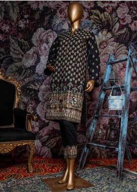 Tasneem Shamim Embroidered Dobby Unstitched 3 Piece Suit TS19RKS CA-02 - Festive Collection