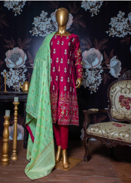 Tasneem Shamim Embroidered Cotton Net Unstitched 3 Piece Suit TS19RKS CB-02 - Festive Collection