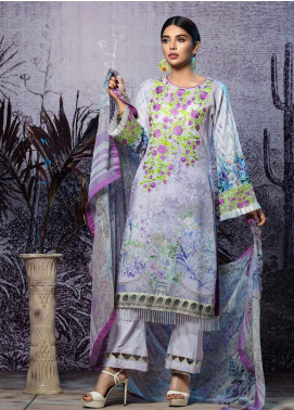 Tatheer Embroidered Lawn Unstitched 3 Piece Suit THT19L 03 - Spring / Summer Collection
