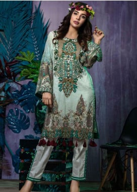 Tatheer Embroidered Lawn Unstitched 3 Piece Suit THT19L 05 - Spring / Summer Collection