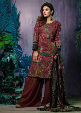 Tatheer Embroidered Lawn Unstitched 3 Piece Suit THT19L 08 - Spring / Summer Collection