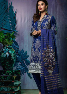 Tatheer Embroidered Lawn Unstitched 3 Piece Suit THT19L 10 - Spring / Summer Collection