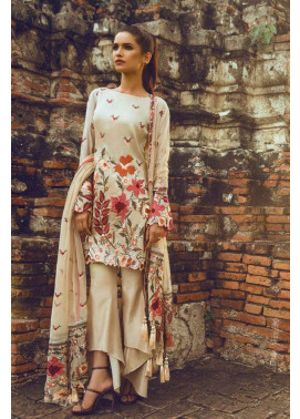 Tena Durrani Embroidered Silk Unstitched 3 Piece Suit TD16W Autumn Leaves