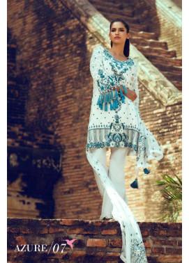 Tena Durrani Embroidered Silk Unstitched 3 Piece Suit TD16W Azure