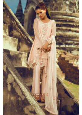 Tena Durrani Embroidered Silk Unstitched 3 Piece Suit TD16W Roseate