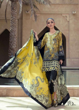 Tena Durrani Embroidered Silk Unstitched 3 Piece Suit TD17W 1B