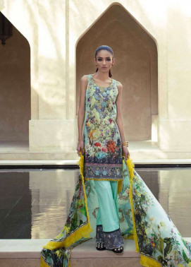 Tena Durrani Embroidered Silk Unstitched 3 Piece Suit TD17W 2A