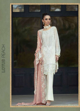 Tena Durrani Embroidered Silk Unstitched 3 Piece Suit TD17W 3A