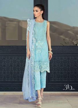 Tena Durrani Embroidered Silk Unstitched 3 Piece Suit TD17W 3B