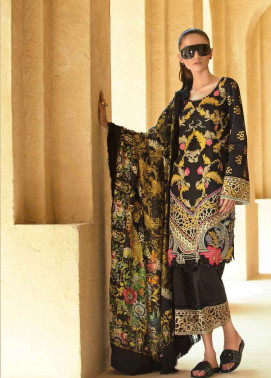 Tena Durrani Embroidered Silk Unstitched 3 Piece Suit TD17W 4A