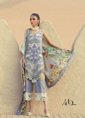Tena Durrani Embroidered Silk Unstitched 3 Piece Suit TD17W 4B