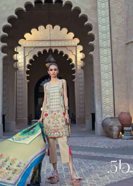 Tena Durrani Embroidered Silk Unstitched 3 Piece Suit TD17W 5B