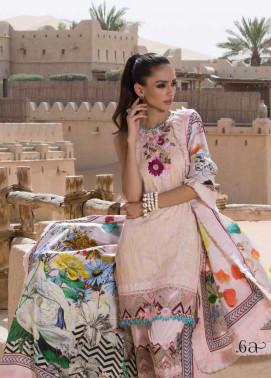 Tena Durrani Embroidered Silk Unstitched 3 Piece Suit TD17W 6A