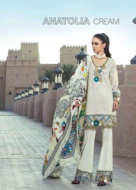 Tena Durrani Embroidered Silk Unstitched 3 Piece Suit TD17W 6B