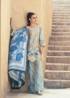 Tena Durrani Embroidered Silk Unstitched 3 Piece Suit TD17W 7A