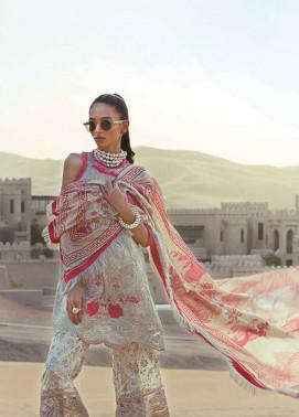 Tena Durrani Embroidered Silk Unstitched 3 Piece Suit TD17W 7B